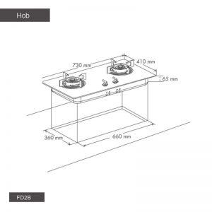 Fotile Kitchen Gas Hob FD2B 01