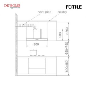 Fotile Kitchen Chimney Hood EH10BQ-01