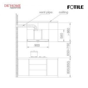 Fotile Kitchen Chimney Hood EH10BQ-01