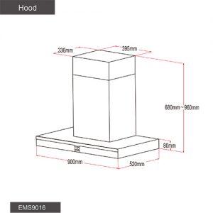 Fotile Kitchen Chimney Hood EMS9016 02