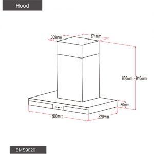 Fotile Kitchen Chimney Hood EMS9020 03
