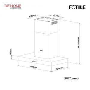 Fotile Kitchen Chimney Hood EMS9021-R 01