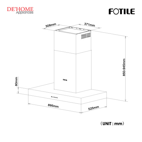 Fotile Kitchen Chimney Hood EMS9021-R 01
