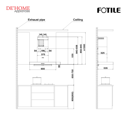 Fotile Kitchen Chimney Hood EMS9021-R 02