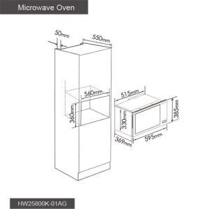 Fotile Kitchen Microwave Oven HW25800K-01AG 02