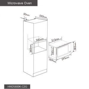 Fotile Kitchen Microwave Oven HW25800K-C2G 02