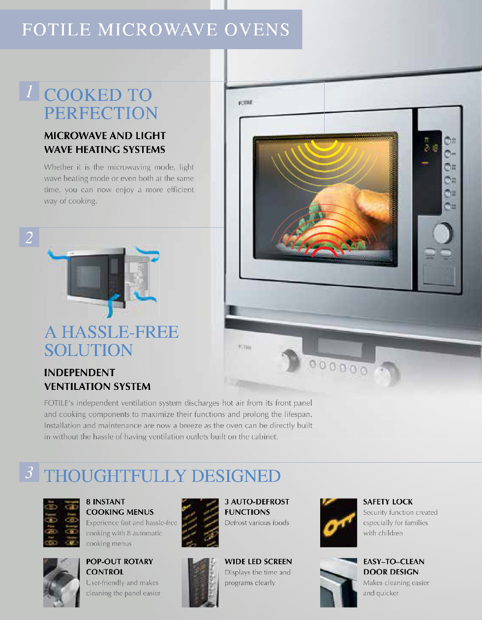 Fotile Kitchen Microwave Ovens