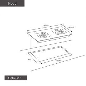 Fotile Hob GAS78201