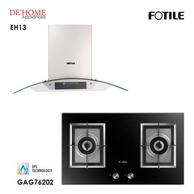 Fotile Built In Chimney Range Hood EH13 Gas Hob GAG76202