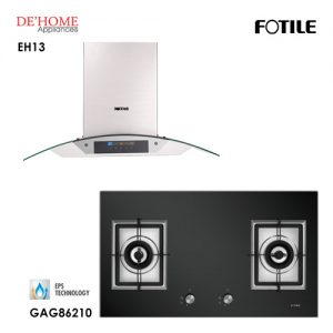 Fotile Built In Chimney Range Hood EH13 Gas Hob GAG86210