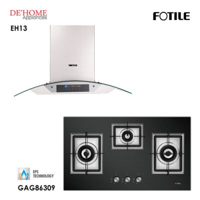 Fotile Built In Chimney Range Hood EH13 Gas Hob GAG86309