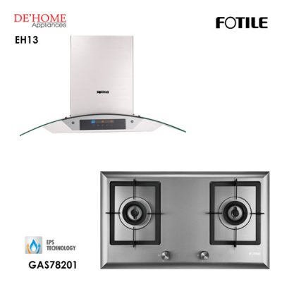Fotile Built In Chimney Range Hood EH13 Gas Hob GAS78201