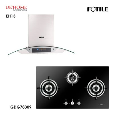 Fotile Built In Chimney Range Hood EH13 Gas Hob GDG78309