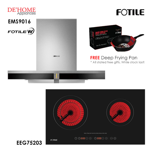 Fotile Built In Hood EMS9016 Electrical Hob EEG75203