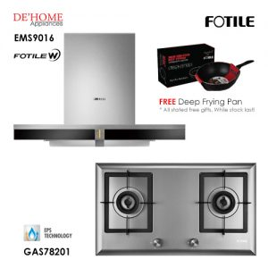 Fotile Built In Hood EMS9016 Gas Hob GAS78201