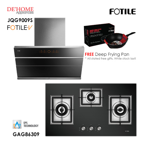 Fotile Built In Hood JQG9009S Gas Hob GAG86309