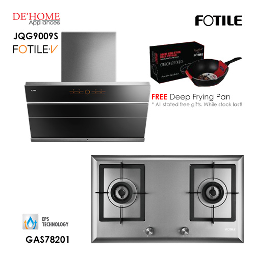 Fotile Built In Hood JQG9009S Gas Hob GAS78201