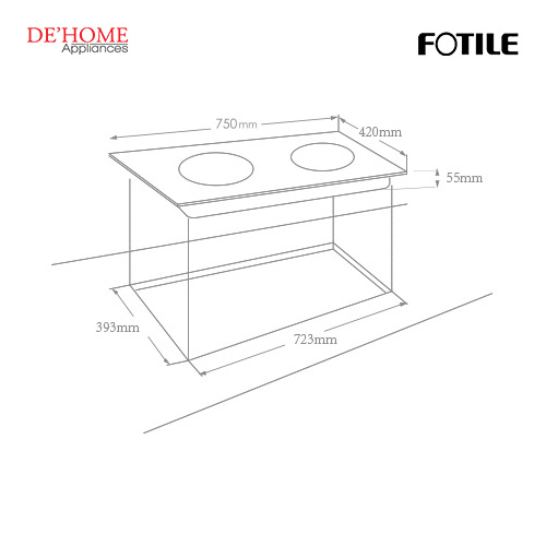 Fotile Built-In Vitro-Ceramic Electric Hob EEG75203 02
