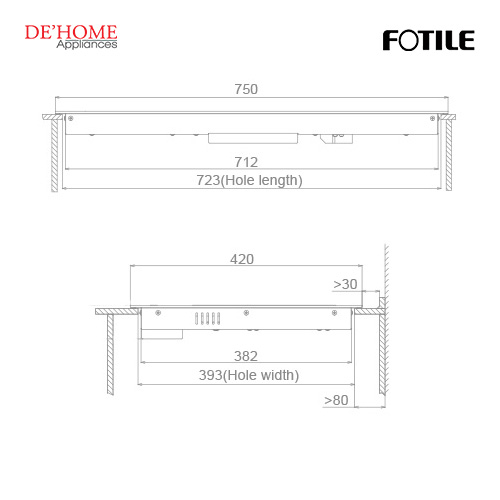 Fotile Built-In Vitro-Ceramic Electric Hob EEG75203 03