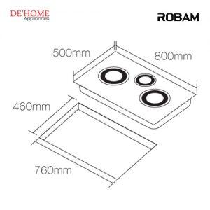 Robam Built-In 3 Burners Electric Ceramic Hob W985 02