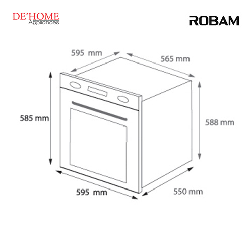Robam Malaysia Built-In Kitchen Oven R302 02