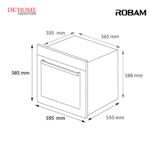 Robam Built-In Kitchen Oven R308 02