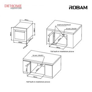 Robam Built-In Kitchen Oven R311 02