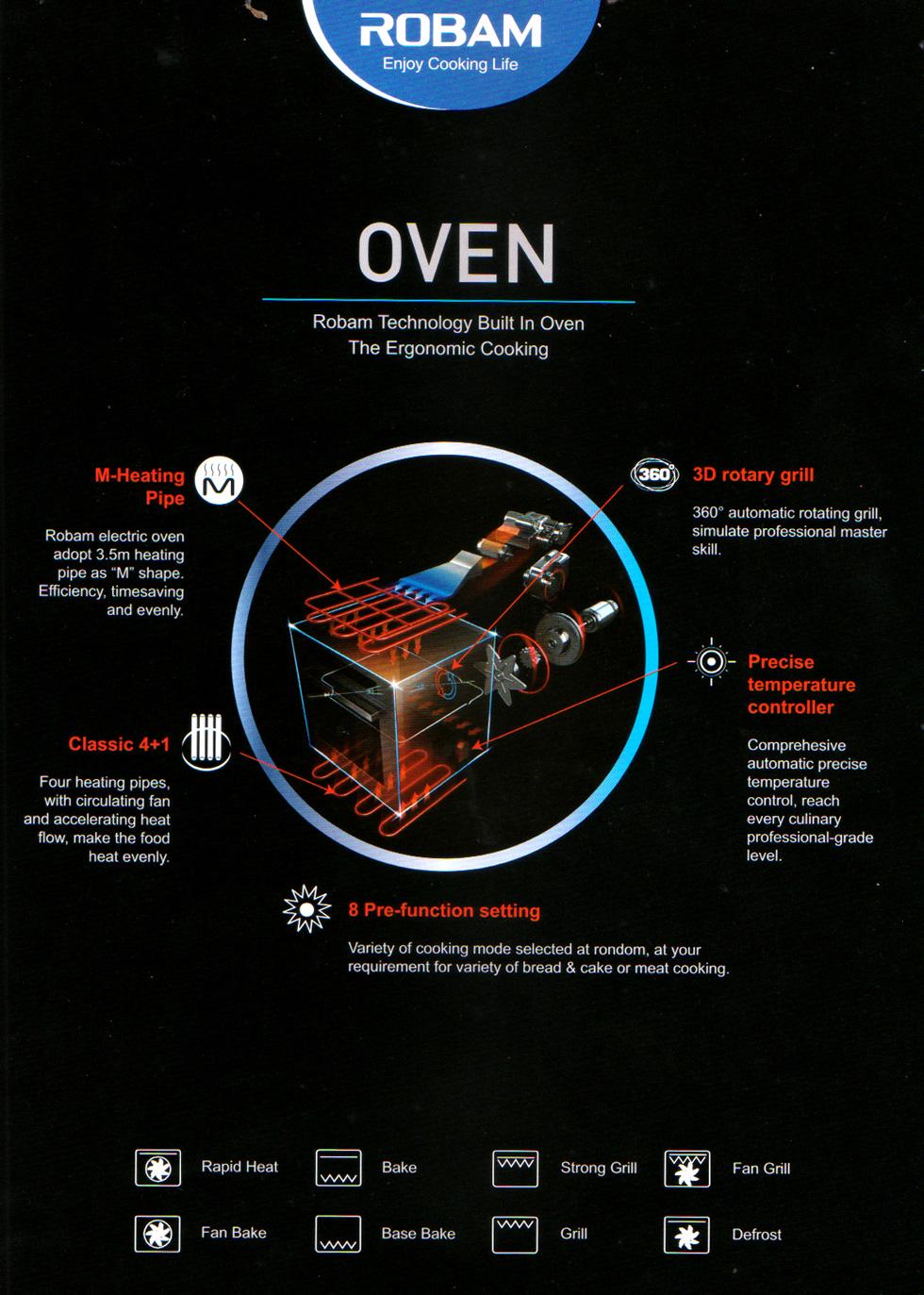 Robam Built In Kitchen Oven R311 De Home Appliances