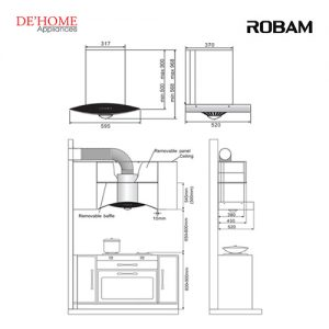 Robam Malaysia Kitchen Range Hood A608 02
