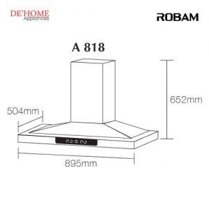 Robam Malaysia Kitchen Range Hood A818 02
