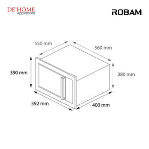 Robam Malaysia Built-In Microwave M601 Measurements