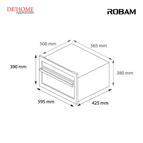 Robam Malaysia Built-In Steam Oven SA01 Measurements