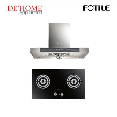 Fotile Kitchen Chimney Range Hood EH23 + Fotile Kitchen Built-In Gas Hob FD2B