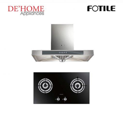 Fotile Kitchen Chimney Range Hood EH23 + Fotile Kitchen Built-In Gas Hob FD2B
