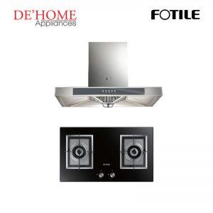Fotile Kitchen Chimney Range Hood EH23 + Fotile Kitchen Built-In Gas Hob GAG76202