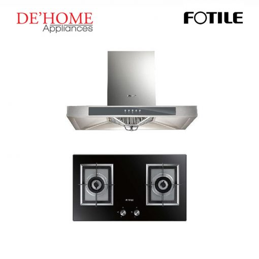 Fotile Kitchen Chimney Range Hood EH23 + Fotile Kitchen Built-In Gas Hob GAG76202