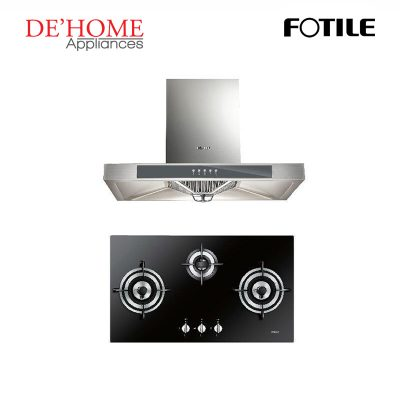 Fotile Kitchen Chimney Range Hood EH23 + Fotile Kitchen Built-In Gas Hob GDG78309