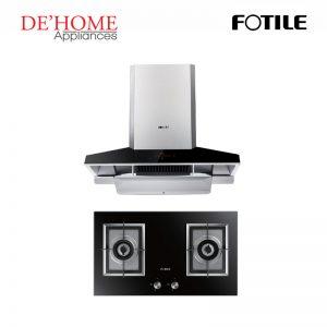 Fotile Kitchen Chimney Range Hood EMG9030 + Fotile Kitchen Built-In Gas Hob GAG76202