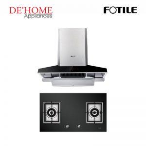 Fotile Kitchen Chimney Range Hood EMG9030 + Fotile Kitchen Built-In Gas Hob GAG86210