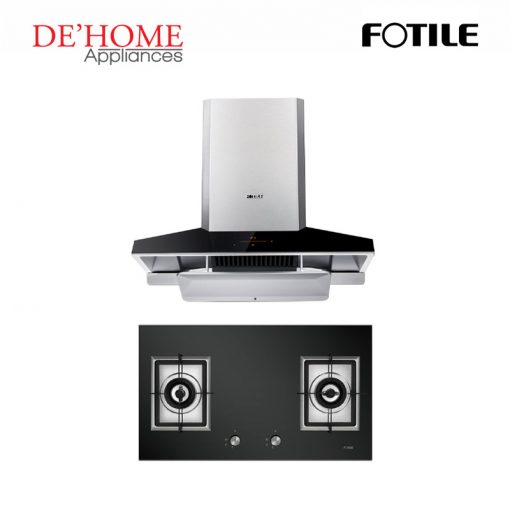 Fotile Kitchen Chimney Range Hood EMG9030 + Fotile Kitchen Built-In Gas Hob GAG86210