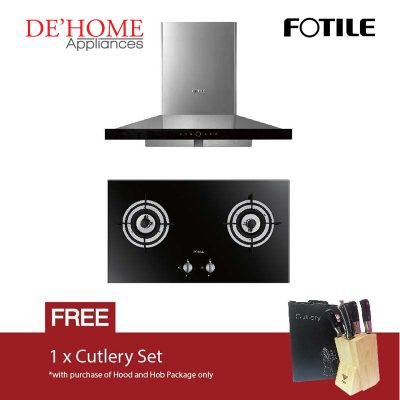 Fotile Kitchen Chimney Range Hood EMS9018 + Fotile Kitchen Built-In Gas Hob FD2B