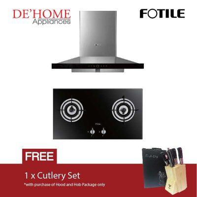 Fotile Kitchen Chimney Range Hood EMS9018 + Fotile Kitchen Built-In Gas Hob FD2B