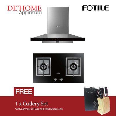 Fotile Kitchen Chimney Range Hood EMS9018 + Fotile Kitchen Built-In Gas Hob GAG76202
