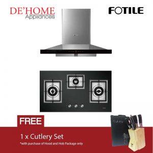 Fotile Kitchen Chimney Range Hood EMS9018 + Fotile Kitchen Built-In Gas Hob GAG86309