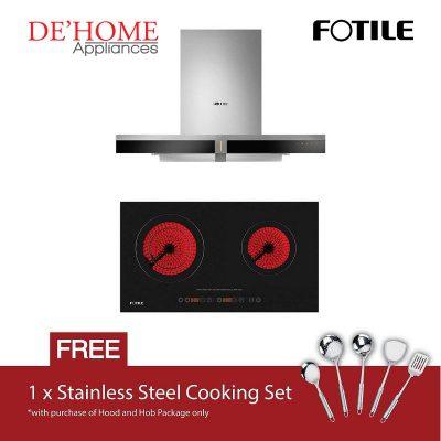 Fotile Kitchen Chimney Range Hood EMS9019 + Fotile Kitchen Built-In Gas Hob EEG75203