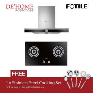 Fotile Kitchen Chimney Range Hood EMS9019 + Fotile Kitchen Built-In Gas Hob FD2B