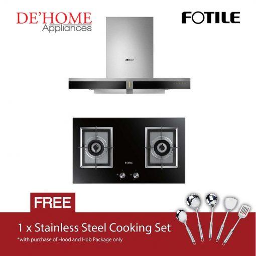 Fotile Kitchen Chimney Range Hood EMS9019 + Fotile Kitchen Built-In Gas Hob GAG76202