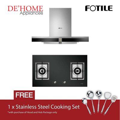 Fotile Kitchen Chimney Range Hood EMS9019 + Fotile Kitchen Built-In Gas Hob GAG86210
