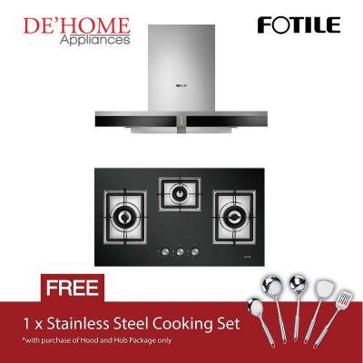 Fotile Kitchen Chimney Range Hood EMS9019 + Fotile Kitchen Built-In Gas Hob GAG86309