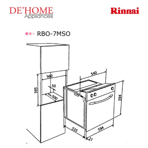Rinnai Kitchen Built-In Oven RBO-7MSO 02